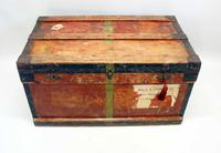 WW1 Era Marshall Campaign Chest / Trunk, Labels & Provenance (22 of 23)