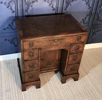 George III Style Burr Walnut Desk c.1920 (8 of 20)