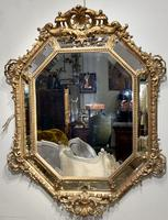 Large Gilt Cushion Mirror (4 of 9)