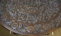 Anglo Indian Carved Elephant Table Early 20th Century (6 of 11)