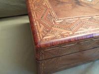 Large Figured Walnut Inlaid Jewellery Box + Tray c.1875 (9 of 12)