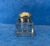 Victorian Cut Glass Inkwell with a Brass Top (6 of 10)