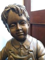A Bronze Of A Young Girl With A Basket Full Of Apples (5 of 7)