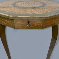 Italian Dodecagon Marquetry Musical Side Table (7 of 8)
