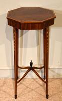 Edwardian Mahogany Painted Urn Stand (3 of 5)