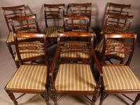 Rare Set of 10 Regency Period Mahogany Dining Chairs (7 of 17)