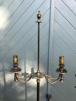Pair of Antique Brass Floor Lamps (2 of 8)