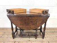 Antique Oak Drop Leaf Dining Table (11 of 13)