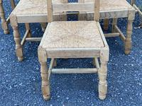 Set of 6 French Bleached Oak Farmhouse Dining Chairs (5 of 13)