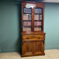 Superb Quality Victorian Mahogany Antique Glazed Secretaire Bookcase On Cupboard (4 of 8)