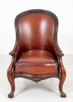 Victorian Rosewood Cabriole Leg Armchair (2 of 9)