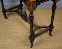 Outstanding Aesthetic Ebonised Burr Walnut Table c.1870 (10 of 10)