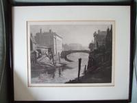 Attributed to Bernard Eyre Walker Etching of 'possibly' Boston