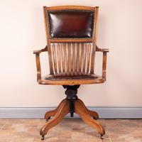 Teak Revolving Office Desk Chair (9 of 17)
