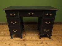 Antique Black Painted Writing Desk, Gothic Shabby Chic (6 of 18)