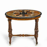 Victorian Walnut & Pietra Dura Table (5 of 16)