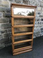 Antique Oak Globe Wernicke Stacking Library Bookcase