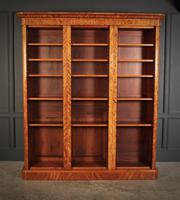 Large Triple Satinwood Open Bookcase (3 of 7)