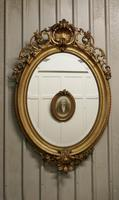 A Very Large French Rococo Oval Gilt Wall Mirror (3 of 10)