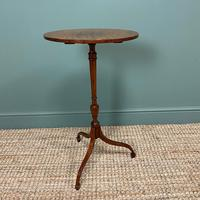 Elegant Sycamore and Yew Antique Wine Table (5 of 6)