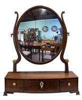 Georgian Oval Mahogany Dressing Table Mirror (3 of 8)