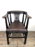 Victorian Carved Oak Gothic Armchair (12 of 12)