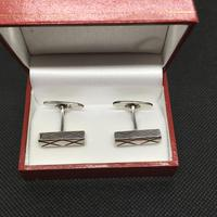 Danish Sterling Silver Cufflinks. 1960s by Aare & Krogh (4 of 4)