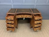 Burr Walnut Pedestal Desk by Maple and Co (8 of 18)