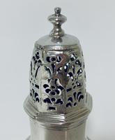 Small 18th Century Solid Sterling Silver Sugar Caster Shaker by Thomas Bamford (5 of 13)