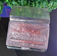 Rare French F Morel Solid Silver Last Supper Scense Lud Snuff Box (9 of 18)