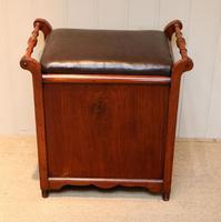 Edwardian Walnut Piano Stool (9 of 9)