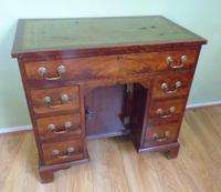 Nineteenth Century Mahogany Kneehole Desk (2 of 7)