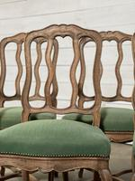 Set of 10 French Bleached Oak Farmhouse Dining Chairs (16 of 16)