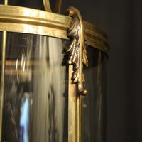 French Large Brass Four Light Antique Lantern (5 of 10)