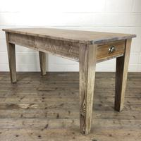 Antique Pitch Pine Table with Drawers (7 of 10)