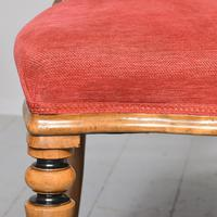 Pair of Victorian Walnut & Ebonized Side Chairs (6 of 9)