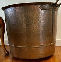 Large Sturdy Solid Copper Bin c.1900 (11 of 11)
