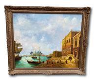 20th Century Oil On Canvas Venitian Scene