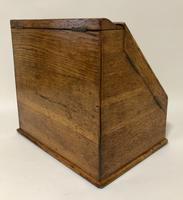 Antique Oak Desktop Stationery Cabinet with Calendar (3 of 12)
