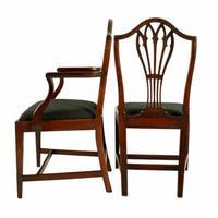 Set of Eight Hepplewhite Chairs (2 of 9)