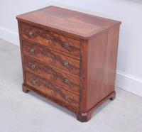 19th Century Continental Flame Mahogany Chest of Drawers (7 of 12)