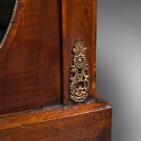 Antique Display Bookcase, English, Walnut, Boxwood, Empire, Cabinet, Regency (12 of 12)