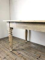 Antique Pine Farmhouse Style Kitchen Table (4 of 13)