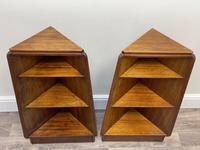 Pair of Mid Century G Plan E Gomme Pyramid Teak Open Corner Bookcases (5 of 38)