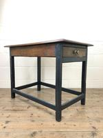 Antique Oak Side Table with Drawer (2 of 11)