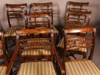 Rare Set of 10 Regency Period Mahogany Dining Chairs (3 of 17)