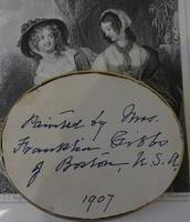 Edwardian Miniature Portrait 1907 by Mrs Gibbs of Boston USA (5 of 5)