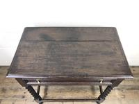 Antique Oak Side Table with Drawer (7 of 10)
