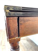 19th Century Mahogany & Boxwood Fold Over Table (10 of 10)