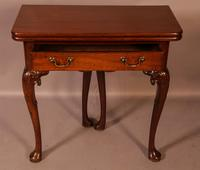 George II Tea Table Cabriole Legs Carved Knee